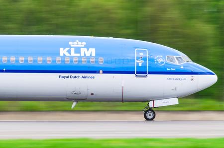 boeing 747: Boeing 737 KLM airlines, airport Pulkovo, Russia Saint-Petersburg August 2016.