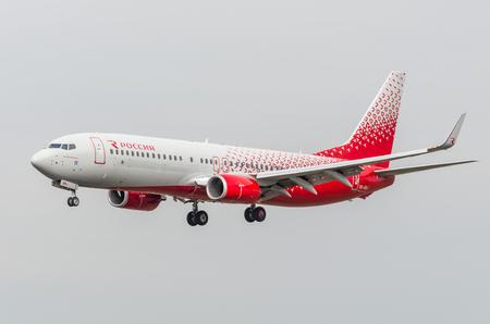 boeing 747: Boeing 737-800 Rossiya airlines, airport Pulkovo, Russia Saint-Petersburg May 2017 Editoriali