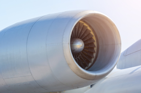 Engine turbo fan long in engine aircraft