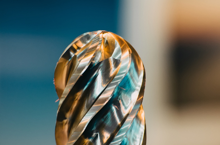 A huge metal drill near the spiral