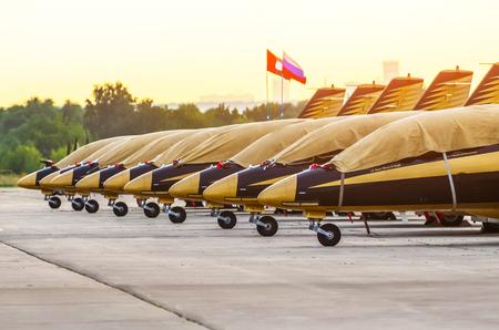 Aerobatic Team Al Fursan aircraft. Moscow. Airport Zhukovsky. July 20. 2017