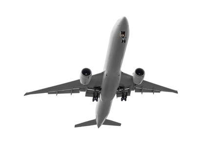 Passenger big airplane isolated on white background Stok Fotoğraf