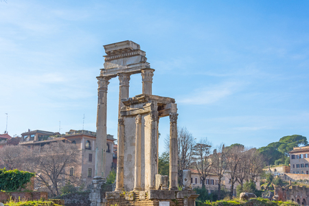 Ancient ruins of Roman Forum in Rome, Italy 免版税图像