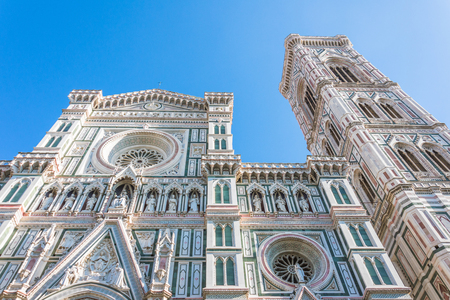 Facade of the Cattedrale di Santa Maria del Fiore, Florence, Italy Banque d'images