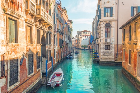 Canal in Venice, view of the architecture and buildings. Typical urban view Reklamní fotografie