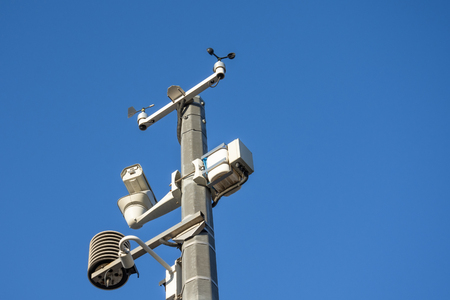 Automatic weather station, with a weather monitoring system and video cameras for observation