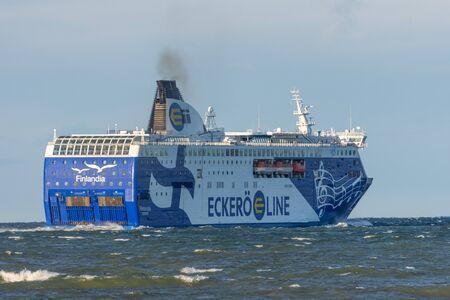 Cruiseferry Finlandia of Eckero Line departs to Tallinn. Russia, Estonia, November 30, 2011