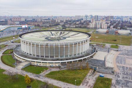 Sport and Concert Complex before dismantling and demolition in Saint-Petersburg. Saint-Petersburg, Russia - November 12, 2019