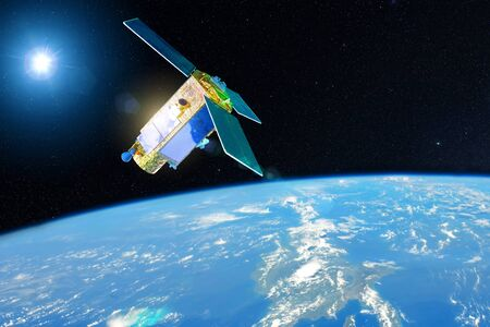 Satellite for studying the atmosphere and hydrosphere in the low orbit of planet Earth.