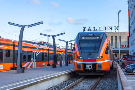 Tallinn Balti Jaam railway station. Estonia, Tallinn 30 november 2019