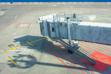Jet bridge on an airport terminal, empty gate