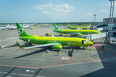 Boeing 737-800 S7 airlines, airport Domodedovo International Airport, Russia Moscow, 07 july 2020 Editorial
