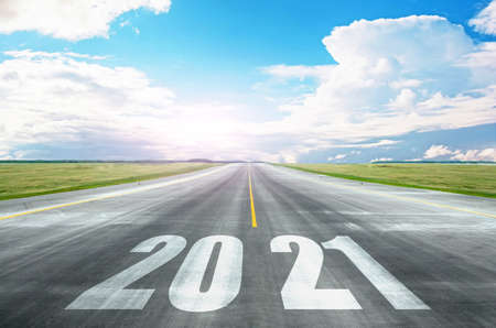 The road to 2021, the prospects for opening horizons, new potential. Bright future and development concept