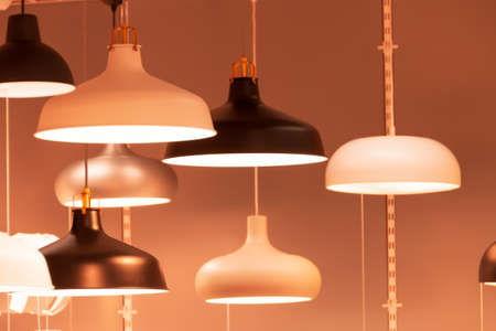 Many lamps and chandeliers for the interior of rooms and bedrooms