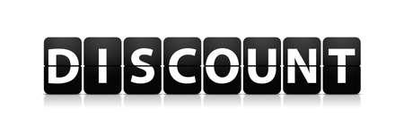 display type: discount flip type display sign board Stock Photo