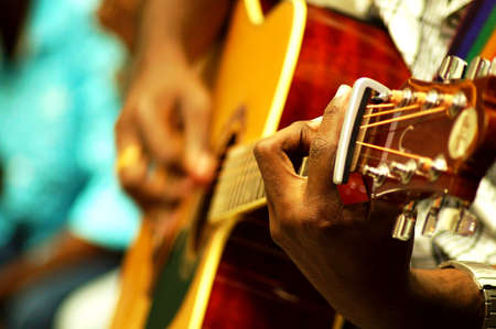 musical instrument parts: Life performance of guitarist on the stage