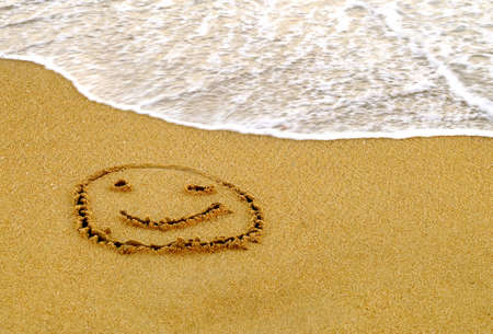character traits: Happy Smiley on a Beach