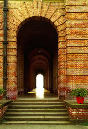 corridors: Sandstone Corridors with light at the end of the tunnel