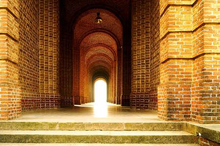 lighting effect: Dramatic lighting effect at the corridor Stock Photo