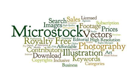 stock photo: Word cloud of Microstock