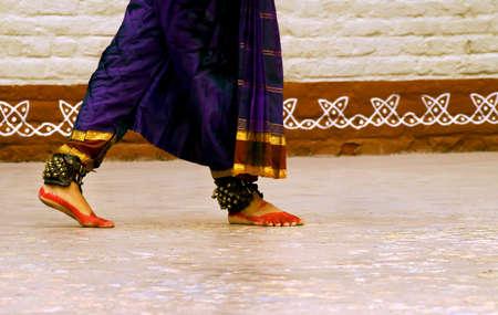 kuchipudi: The Musical journey of feet Stock Photo