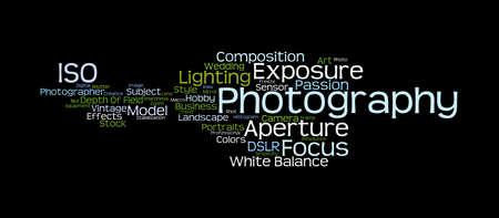 telephoto: Photography Word Cloud