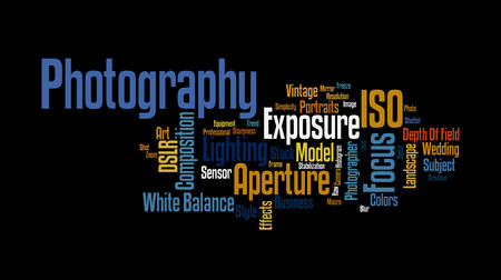 editorial design: Photography Word Cloud