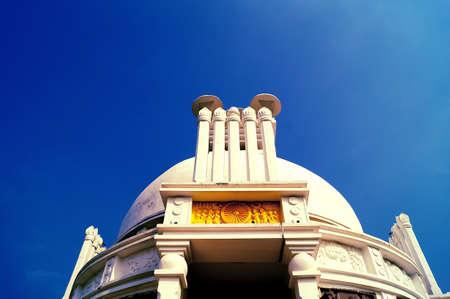 lord buddha: Shanti stupa: peace pagoda dedicated to lord Buddha