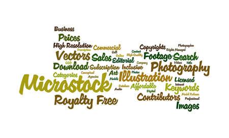 microstock: Word cloud of Microstock