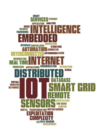 smart grid: Internet of things word cloud(buzz words)