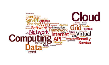 operating system: Cloud Computing Word Cloud Stock Photo