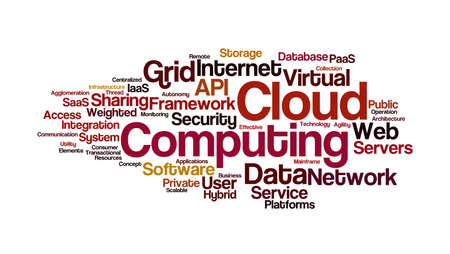 buzz: Cloud Computing Word Cloud Stock Photo