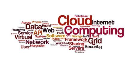 cloud: Cloud Computing Word Cloud Stock Photo