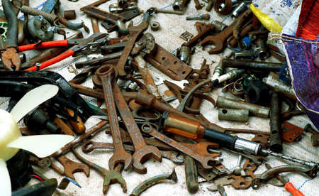 second hand: Obsolete second hand mechanical tools for sale Stock Photo