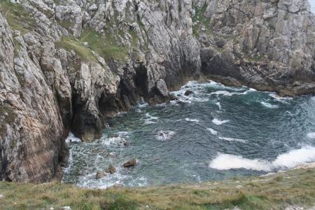craggy: A craggy bay on the coast near Brest, France