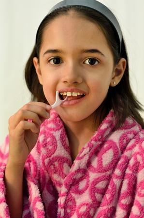 Little Hispanic Girl Oral Hygiene photo