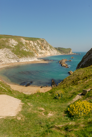 Lullworth cove in Dorset