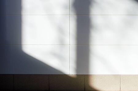 white tile illuminated by window light