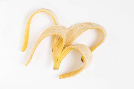 banana peel on a white background 版權商用圖片