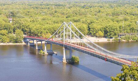 bridge in a big city over the river