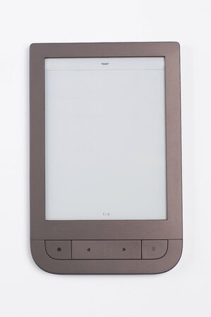 electronic book on a white background Imagens