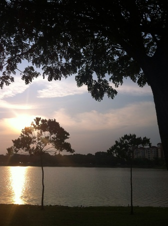 alam: Sunset in Shah Alam.
