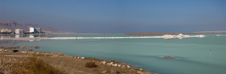 horozontal: Panoramic view of the Dead Sea - Israel
