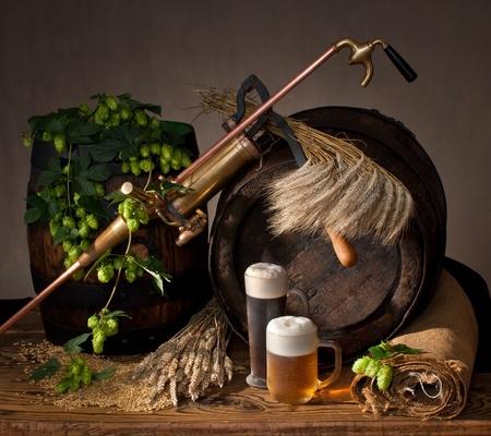 malto d orzo: natura morta con birra