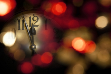 new years clock photo
