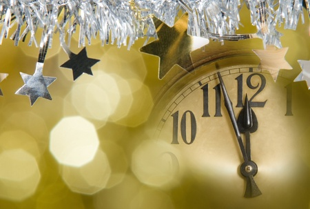 new years clock Stock Photo - 10481348