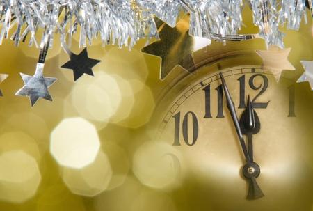 nouvel an: nouvelle année horloge