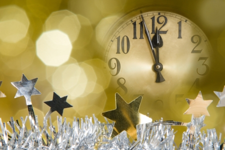 new year clock photo
