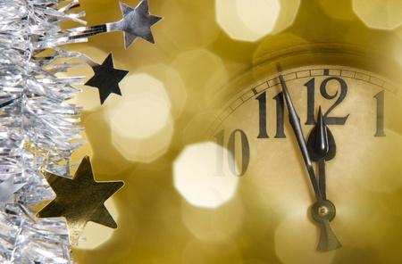 Neues Jahr Uhr Standard-Bild - 10572237