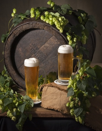 still life with beer Imagens